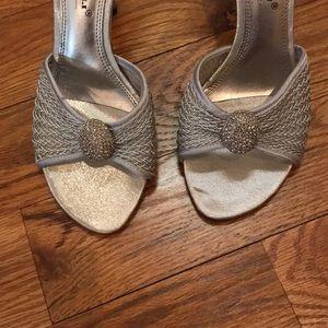 A. Marinelli Shoes - A. Marinelli Silver Sparkle Sandals Size 7.5 NIB